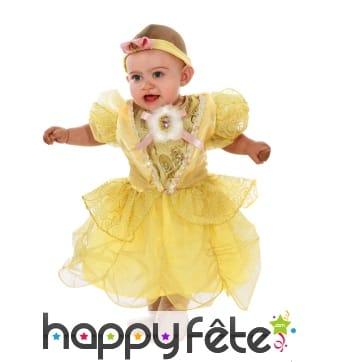 Déguisement de princesse dorée pour bébé
