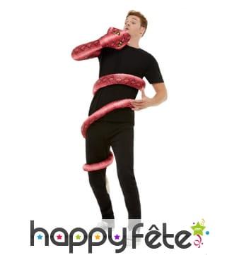 Déguisement dévoré par un serpent pour adulte