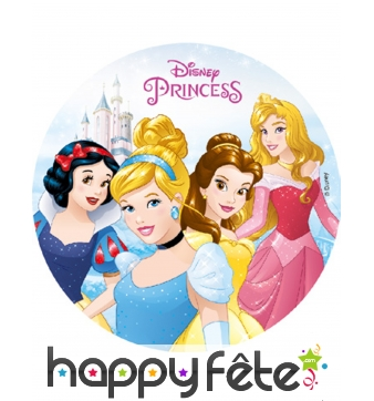 Disque des princesses Disney en amidon de 18,5 cm