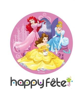 Disque des Princesses Disney rose en azyme, 20 cm
