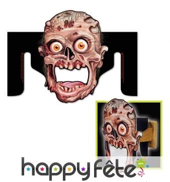 Distributeur de papier wc tête de zombie