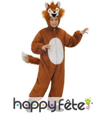 Déguisement de renard marron et beige pour enfant