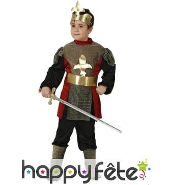 Déguisement de roi chevalier pour enfant