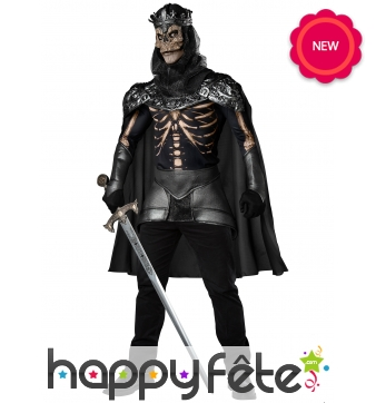 Déguisement de roi squelette réaliste pour adulte