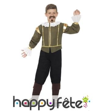 Déguisement de Shakespeare pour enfant