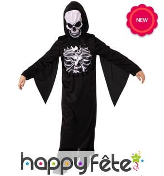 Déguisement de spectre squelette pour enfant