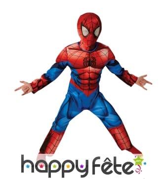 Déguisement de spiderman rembourré pour enfant