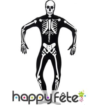 Déguisement de squelette deuxième peau