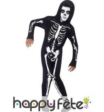 Déguisement de squelette pour enfant