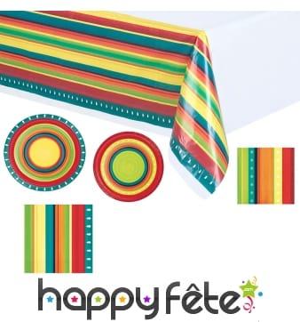Déco de table aux couleurs Mexicaine