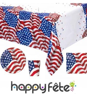 Déco de table imprimée drapeau USA