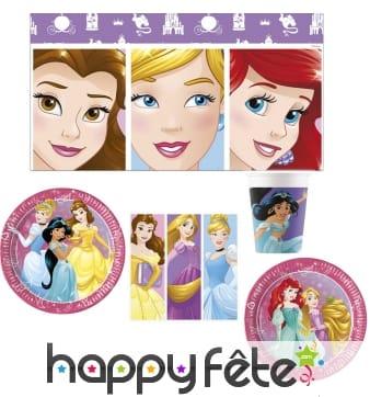 Déco de table Princesses Disney pour anniversaire