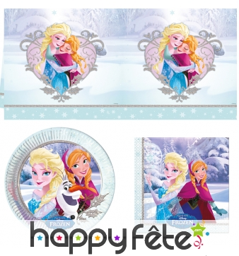Déco de table Reine des neiges amour de Noël
