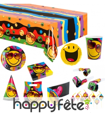 Déco de table Smiley World pour anniversaire
