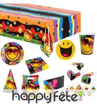 Déco de table Smiley World pour anniversaire