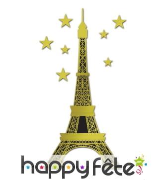 Décor de tour Eiffel en carton, 1,75 m