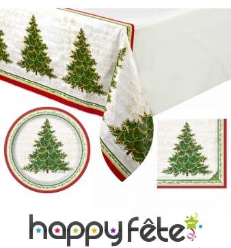Décoration de table Arbre de Noël rouge et verte
