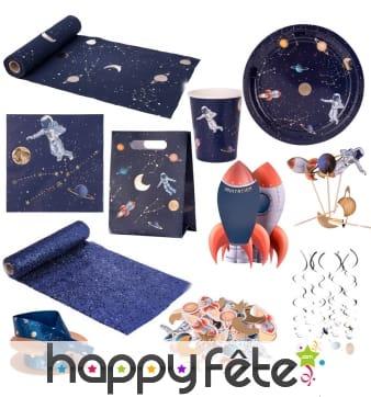Décoration de table astronaute dans l'espace