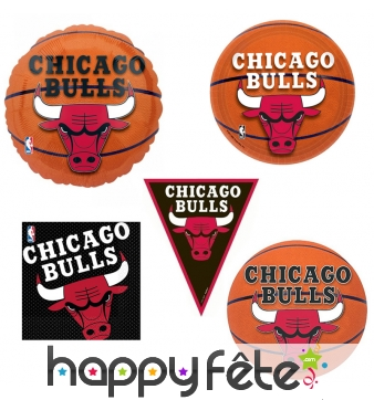 Décoration de table Chicago Bulls