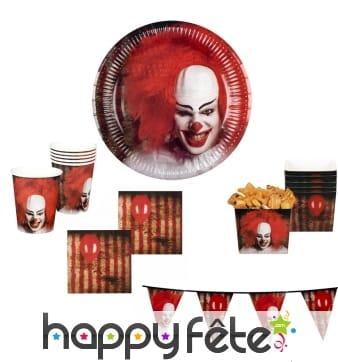 Décoration de table clown effrayant