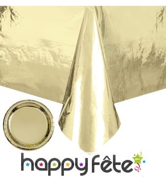 Décoration de table dorée métallisée