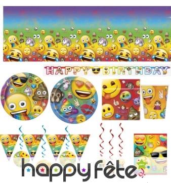 Décoration de table Emoji party