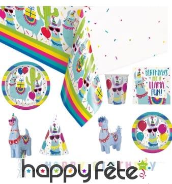 Décoration de table Lama party pour anniversaire