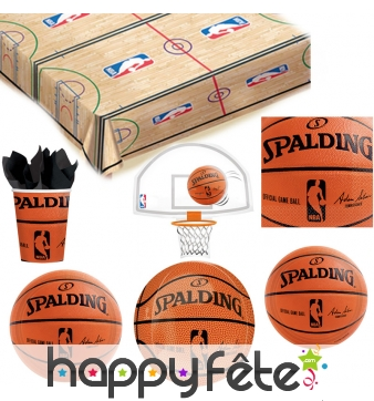 Décoration de table NBA Spalding