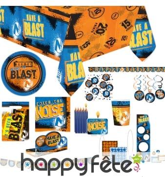 Décoration de table Nerf pour anniversaire