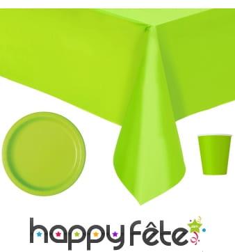 Décoration de table vert pomme
