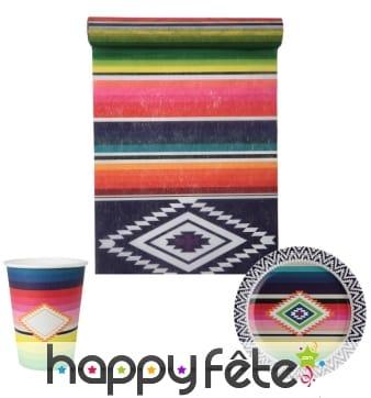 Décorations de table aux couleurs du Mexique