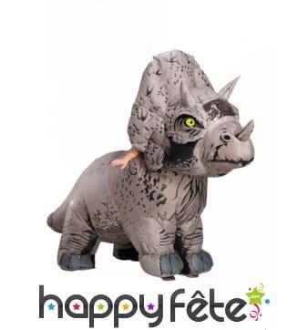 Déguisement de triceratop gonflable pour adulte