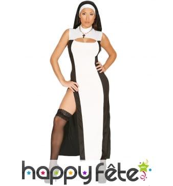 Déguisement d'une religieuse glamour pour femme