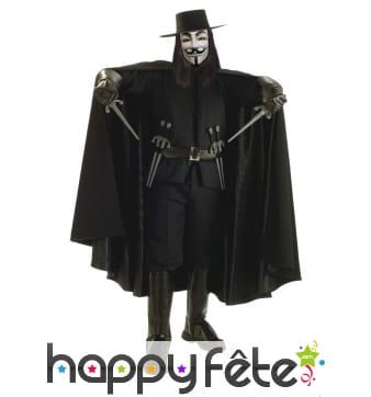 Déguisement de V pour Vendetta version luxe
