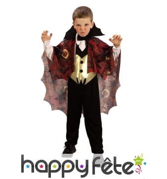 Déguisement de vampire pour enfant, avec cape