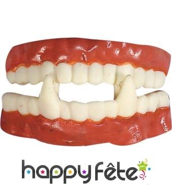 Dentier de vampire en caoutchouc, professionnel