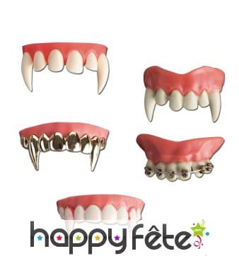 Dentier de vampire modelable
