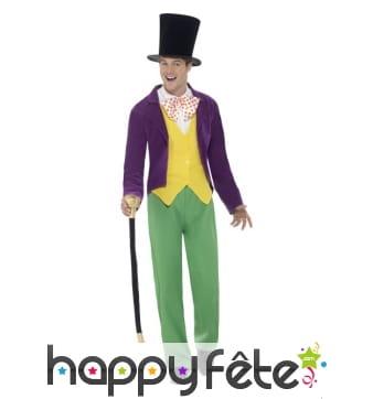 Déguisement de Willy Wonka pour adulte