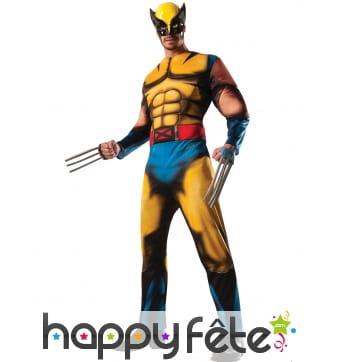 Déguisement de Wolverine musclé pour adulte