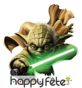 Décor de Yoda en carton plat de 65cm
