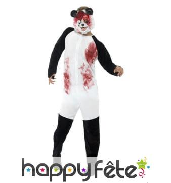 Déguisement de zombie panda