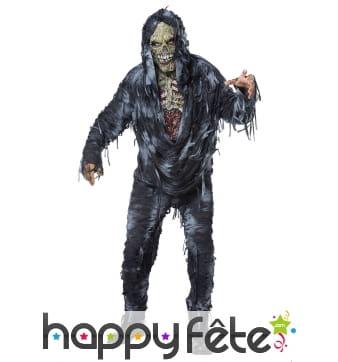 Déguisement de zombie squelette pour homme