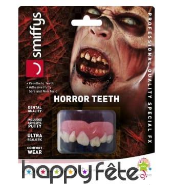 Dentier de zombie, dents du haut
