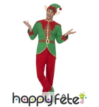 Déguisement Elf de Noël pour homme adulte