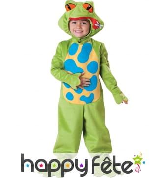 Déguisement enfant de grenouille verte