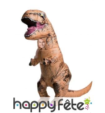Déguisement enfant de T-rex gonflable