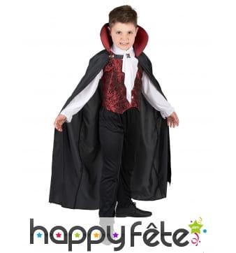 Déguisement enfant de vampire avec longue cape