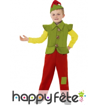 Déguisement enfant elfe noel
