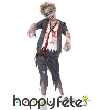 Déguisement enfant étudiant zombie