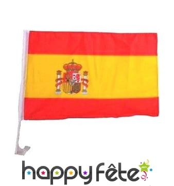 Drapeau Espagne pour voiture 30 X 46 cm